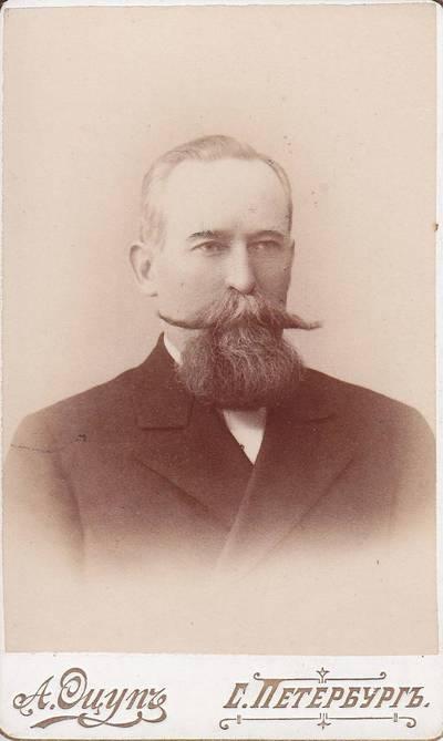 A. Ocup. Nuotrauka. Nežinomo vyro portretas. 1875