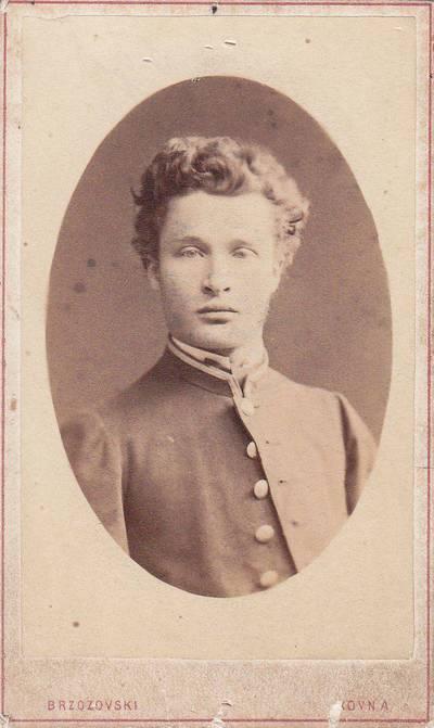 Jaroslavas Bžozovskis. Nuotrauka. Rudolfas Ostrauskas. 1879