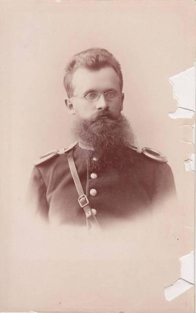Nuotrauka. Nežinomo kariškio portretas. 1875