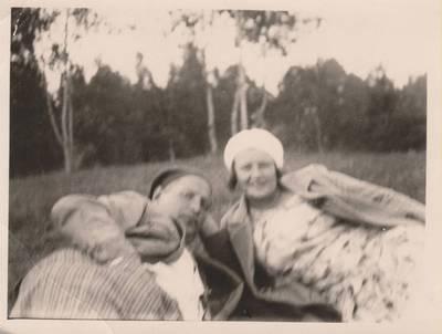 Nežinomas autorius. Nuotrauka. Balys Sruoga su žmona Vanda Daugirdaite-Sruogiene. 1936
