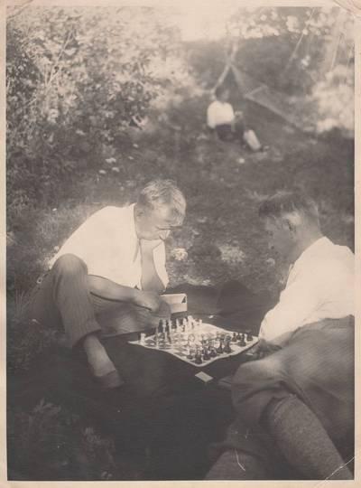 Nežinomas autorius. Nuotrauka. Albinas Rimka ir Balys Sruoga. 1935