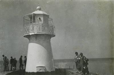 Klaipėdos Šiaurinio molo Baltasis švyturys. Lietuva, 1933 m.