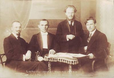 Lietuvių operos tarybos nariai. Kaunas, Lietuva, 1920 m.