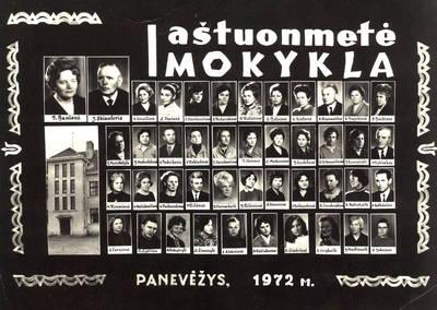 Panevėžio 1-os aštuonmetės mokyklos pedagogai / Petras Zablockas ... [et al.]. - 1972
