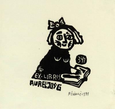 Ex libris Aurelijos G[vozdienės] / P[ovilas] Šiaučiūnas. - 1991