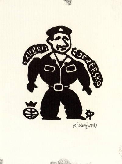 Ex libris Č[eslovo] Jezersko / P[ovilas] Šiaučiūnas. - 1991