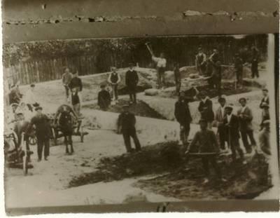Ramygalos progimnazijos statybos pradžia. - 1925