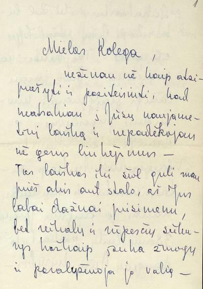 Vandos Zaborskaitės laiškas Leonui Kuodžiui / V[anda] Zaborskaitė. - 1971.05.17-1973.12.29