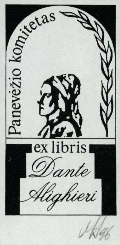 Ex libris Dante Alighieri. Panevėžio komitetas / Henrikas Mazūras. - 1996