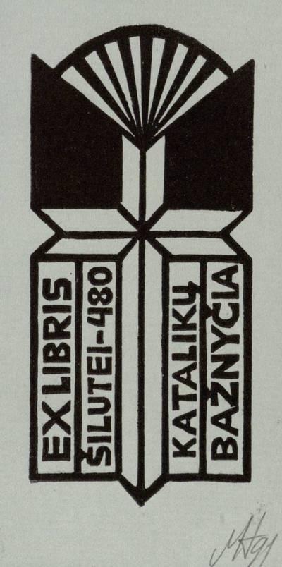 Ex libris Šilutei - 480. Katalikų bažnyčia / Henrikas Mazūras. - 1991