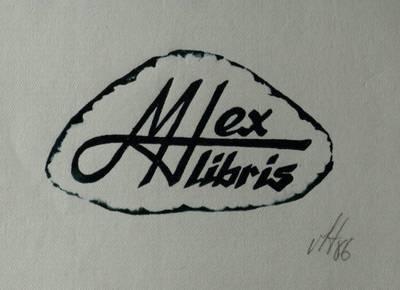 Ex libris M[azūro] H[enriko] / Henrikas Mazūras. - 1986