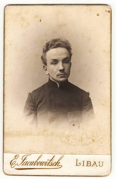 Zigmantas Moigis. Portretinė nuotrauka / Zigmantas Moigis. - apie 1905