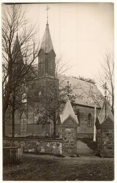 Paįstrio Švč. Mergelės Marijos Globos bažnyčia. Nuotrauka. - XX a. 2 deš. pab.-3 deš.