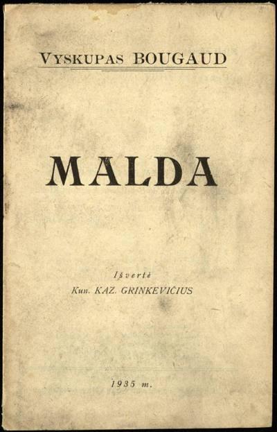 Malda / vyskupas Bougaud. - 1935