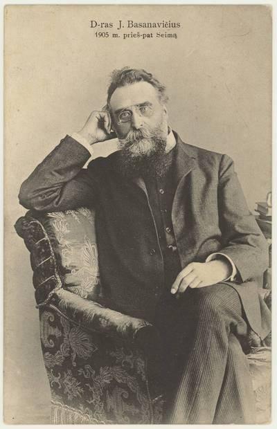 D-ras J. Basanavičius 1905 m. prieš pat Seimą