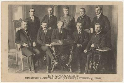 E. Galvanauskio ministerių kabinetas, atvedęs Lietuvą į Steigiamąjį seimą