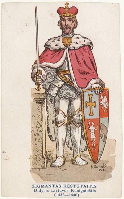Zigmantas Kęstutaitis Didysis Lietuvos kunigaikštis (1432-1440) / [dail.] M. Barvickis