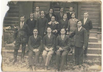 Nežinomas fotografas. Želtiškių kaimo jaunimas. 1940