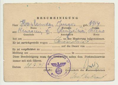 Liudijimas. 1943-07-28