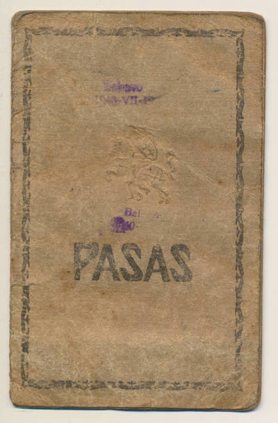 M. Sapkauskienės pasas. 1926-03-11