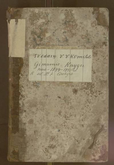 Svėdasų parapijos gimimų registracijos knyga. 1848-08-31