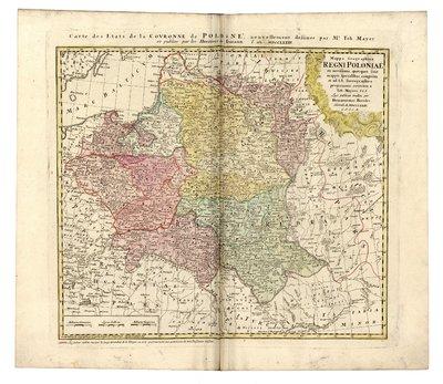 Mappa Geographica Regni Poloniae ex novissimis qoutquot sunt mappis specialibus composita et ad LL. stereographica projectionis
