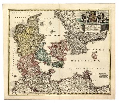 Regni Daniae in quo sunt ducatus Holsatia et Slesvicum insulae ... nova tabula
