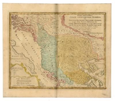 Mappa Geographica Graeciae Septentrionalis Hodiernae