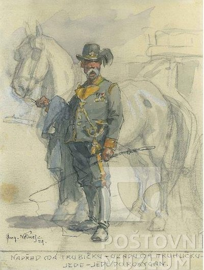 Augustin Němejc: Rakouský postilión s koněm