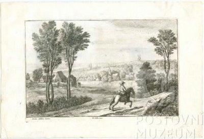 Václav Hollar: Jezdec v holandské krajině