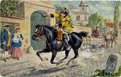 Reprodukce Špěšný poštovní kurýr z doby Marie Terezie