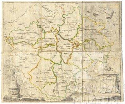 Poštovní mapa - Post Charte vom Königreiche Böhmen