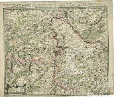 Místopisná kolorovaná mapa