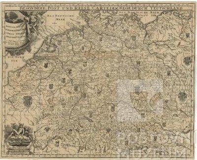Poštovní a cestovní mapa