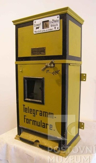 Automat na telegrafní blankety