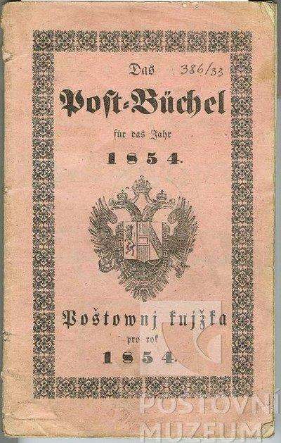 Poštovní knížka na rok 1854