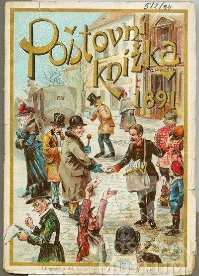 Poštovní knížka na rok 1891