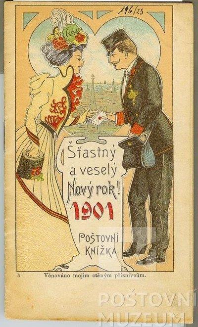 Poštovní knížka na rok 1901