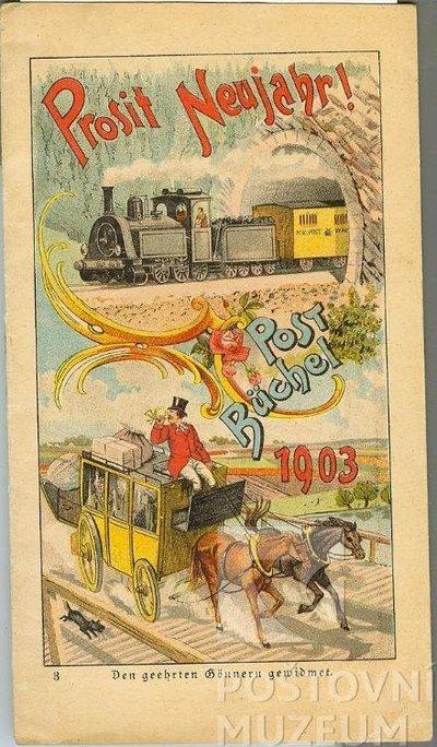 Poštovní knížka na rok 1903