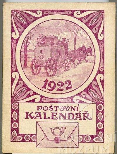 Poštovní kalendář na rok 1922