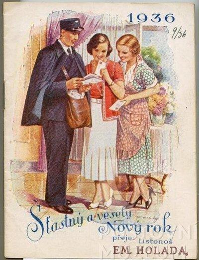 Poštovní knížka na rok 1936