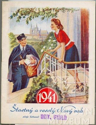 Poštovní knížka na rok 1941