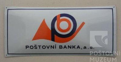 Vývěsní štít Poštovní banka, a.s.
