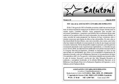 Saluton!, 2010, n. 20, aŭgusto