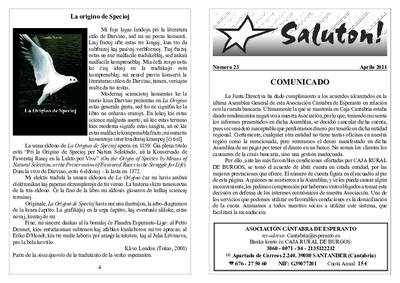 Saluton!, 2011, n. 23, aprilo