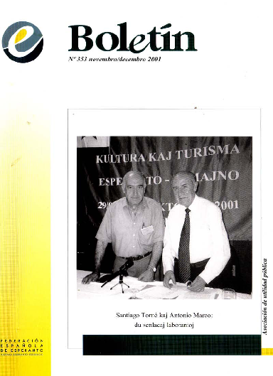 Boletín, [2001], n. 353