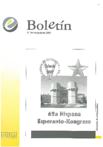 Boletín, [2003], n. 361