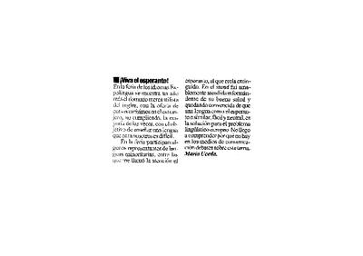 ¡Viva el esperanto! / María Uceda