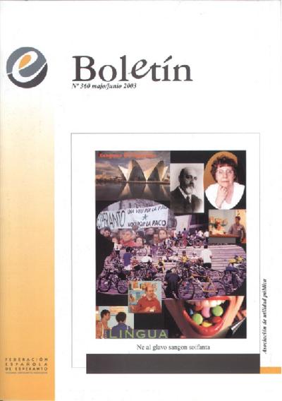 Boletín, [2003], n. 360