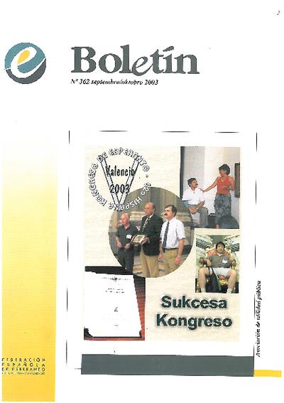 Boletín, [2003], n. 362